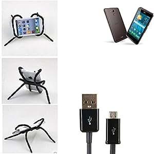 """soporte para coche y para mesa etc. para ACER Liquid Z410 Plus, negro """"araña"""" cable USB. montaje de la salida aire, espejo retrovisor, bicicletas, etc. Trípode - K-S-Trade (TM)"""