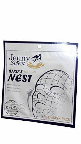 3 packs of Jenny Sweet Bird's Nest 3D Mask Pack. Moisturizing up, Whitening up, Anti-wrinkle up. (25ml/ pack) (Cream Tx System Retinol)
