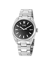 ESQ by Movado Men's 7301359 Sport Classic Stainless-Steel Black Round Dial Watch