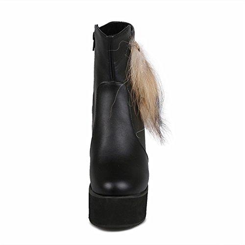 postale autunno a piana codice e ZQ sul QX di inverno le da avviamento lato tonda fondo di black scarpe testa aumentate sono del donna In spessore di pE8qHxXxwf