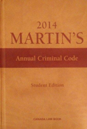 Martin's Pocket Criminal Code 2013 - Student Edition