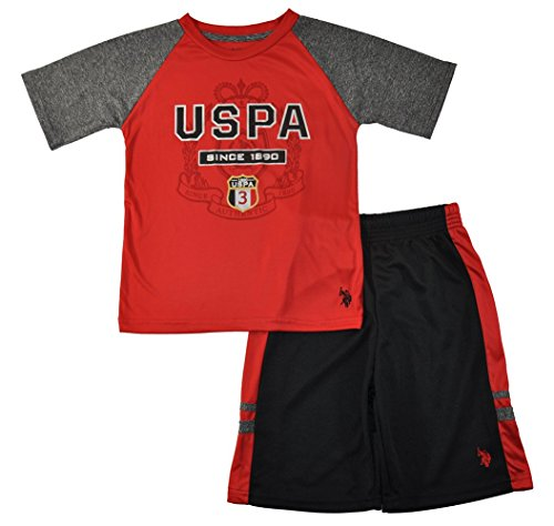 US Polo Assn Boys Red & Black 2pc Mesh Short Set - Polo Us Egypt