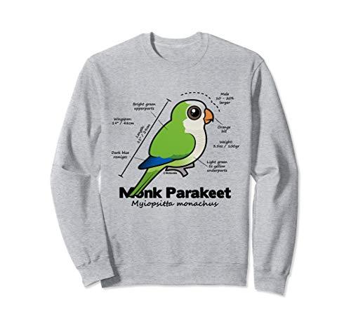 Cute Monk Parakeet Statistics   Quaker Parrot Birdorable Sweatshirt