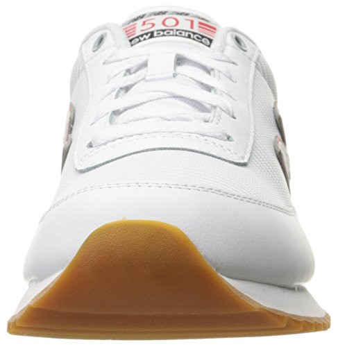 New Balance de hombre 501estilo moda Zapatillas Blanco/Negro