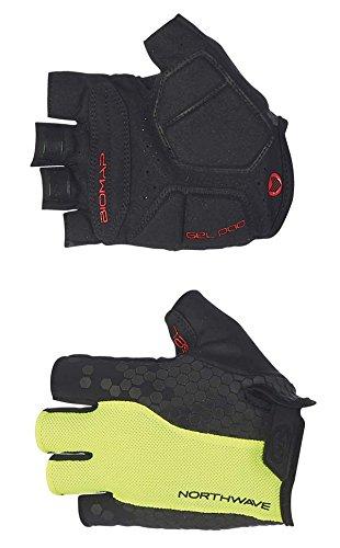 Guantes de ciclismo sin dedos Northwave 2017 Evolution Amarillo Fluo-negro