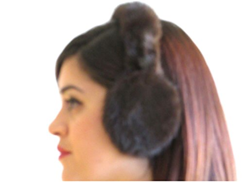 Mahogany Mink Ear Muffs w/Fur on Band