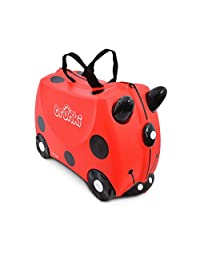 Trunki The Original Ride-On Suitcase New, Harley Ladybird (Red)
