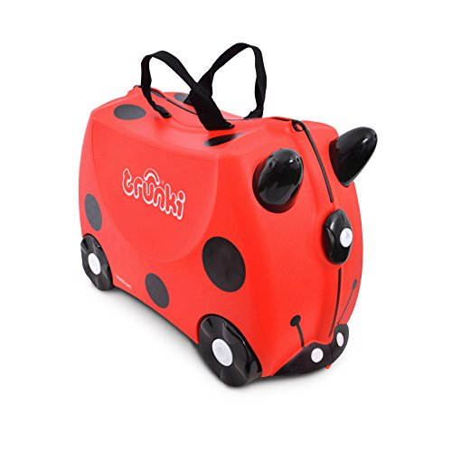 Trunki Original Kids Ride-On Suitcase and Carry-On Luggage – Harley Ladybug (Red)