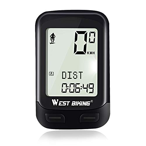 ICOCOPRO Bike Computer, Bicycle Speedometer Odometer Wireless Waterproof Cycle Computer Automatic Wake-up Multi-Function on LCD Backlight & 5 Language Display Cycling Accessories by ICOCOPRO