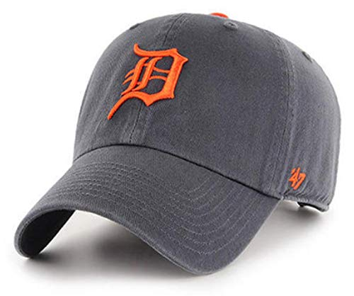 '47 Brand – MLB Detroit Tigers Vintage Graphite/Dark Gray CleanUp Size: OSFM Adjustable Dad Hat