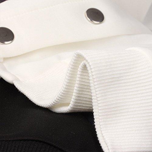 Blouson Automne Bomber Imprim Manches ou Florale Longue Courte Printemps HANMAX Baseball Uniforme Femme de df6xIAq