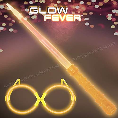 Glow Sticks Bulk Glow Wizard Wands Set, Glow in The Dark for Kids, costume Party Supplies, Birthday Party Favors, Christmas Halloween Decor -