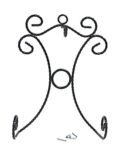 National Artcraft Wall Hanger for Cup and Saucer Display- Black Finish