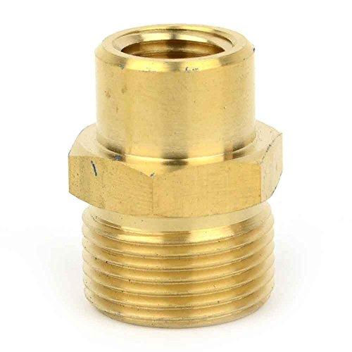 (Interstate Pneumatics PW7150 Pressure Washer M22 x 1/4 inch FNPT Brass Adapter, 4000 PSI)