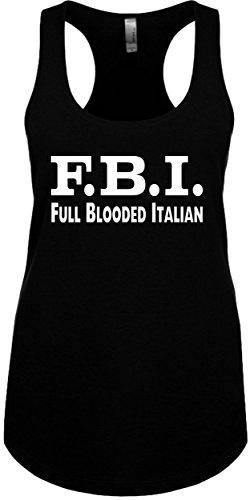 Junior's Funny Tank Top Size S (F.B.I. (Full Blooded Italian) Ladies Novelty Tee ()