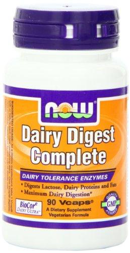 AHORA los alimentos digerir lácteos completos, 90 Vcaps
