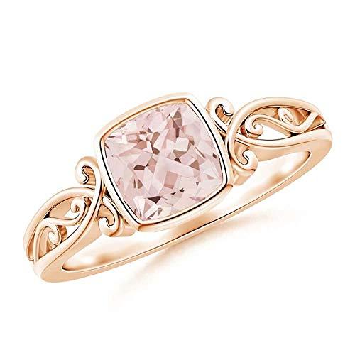 Silverstarking 14K Rose Gold PL Vintage Style Solitaire Engagement Ring...
