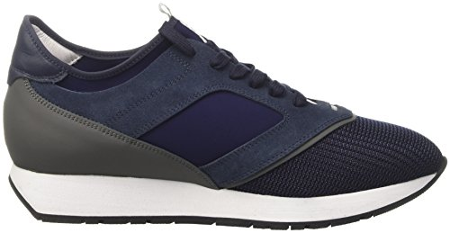 BIKKEMBERGS Herren Runn-Er 802 Niedrige Sneaker 45 EU Blu (Blue/grey)