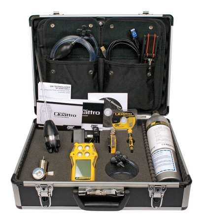 BW Technologies QT-XWHM-R-Y-NA-CS 8 Piece GasAlertQuattro Confined Space Kit (Confined Space Gas Detector)