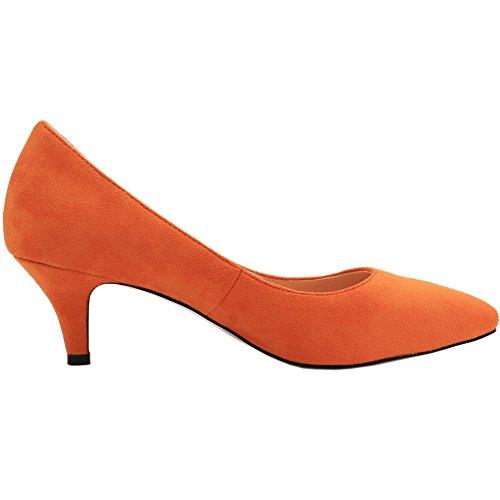 femme Wildleder Escarpins EKS Orange Orange I5Ax6