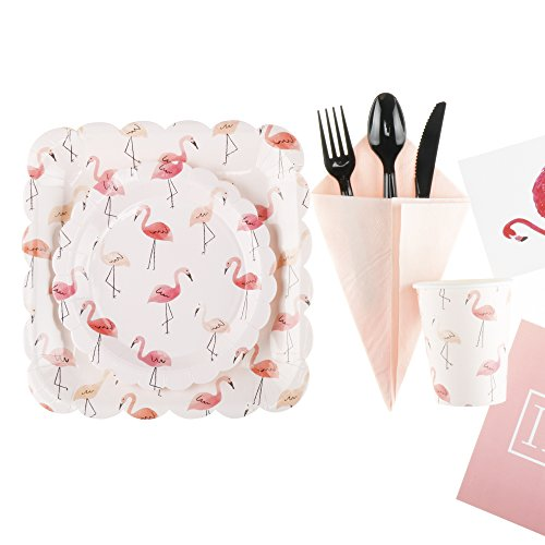 Flamingo Birthday Party Supplies Set RiscaWin Party Set Supplies for 10 Paper Plates  sc 1 st  DavidandFilms & Flamingo Birthday Party Supplies Set RiscaWin Party Set Supplies ...