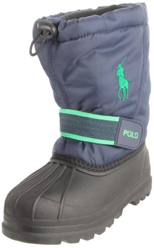 Polo by Ralph Lauren Whistler Pull-On Boot (Toddler/Little Kid/Big Kid), Blau/Navy Nylon/Green, 6 M US Child