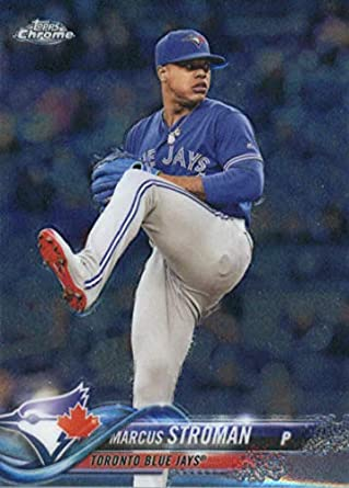 b5f1bc8c81e Amazon.com  2018 Topps Chrome Baseball  2 Marcus Stroman Blue Jays ...