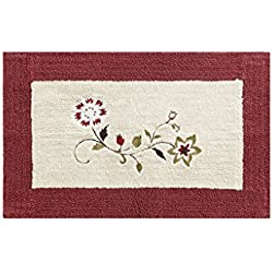 Madison Park Serene Embroidered Cotton Tufted Bath Mat 21x34