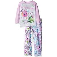 Shopkins Best Friends Forever Doodle Raglan Microfleece Pajama Set