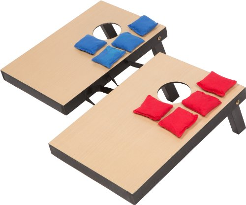 "Miniature Indoor Desktop Bean Bag Toss Cornhole Game - 10 1/4"" x 15 1/2"" - By Simply Sports"