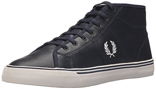 Fred Perry haydon Mid Leather Sneaker, Carbon Blue, 10 D UK (11 US)
