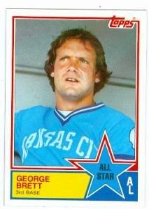 George Brett baseball card (Kansas City Royals) 1983 Topps #388