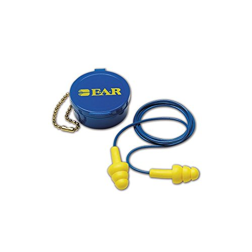 3M 10080529400014 E-A-R 340-4002 Ultra Fit Reusable Corded Earplugs, OSFA, Blue, One Size Fits All