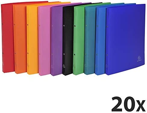 orange f/ür DIN A4 32 x 25cm Exacompta 542554E Ringhefter aus bedrucktem Colorspan-Karton 2 Ringe /Ø 15 mm Gummizugverschlu/ß 1 St/ück