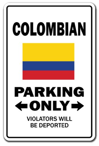Amazon.com : Colombian Parking Sign | Indoor/Outdoor | Funny ...