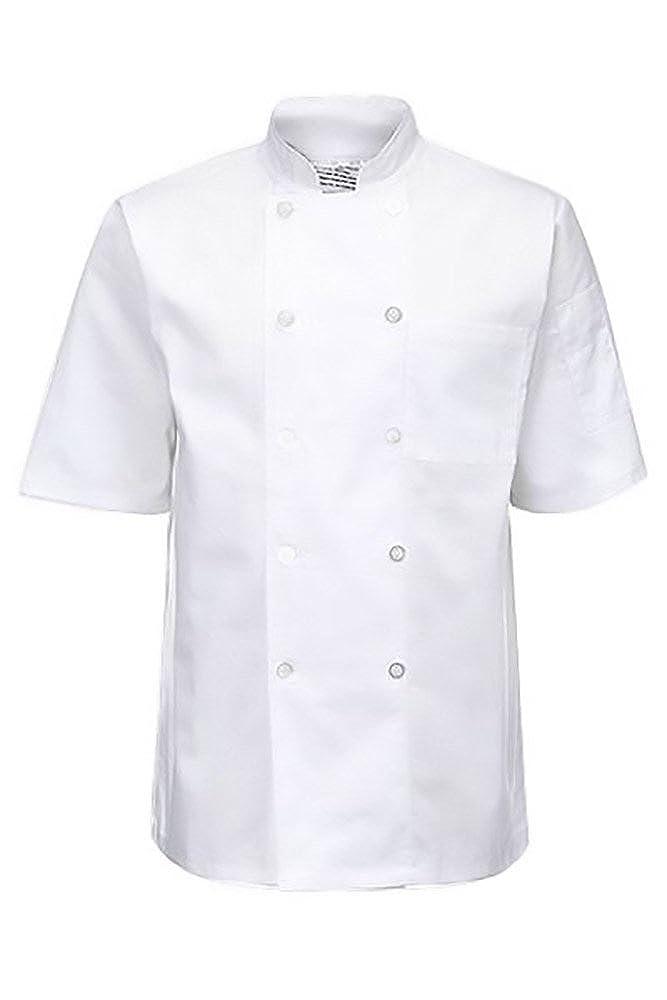 da cucina Yarmo Giacca da chef unisex con manica corta con bottoni sul davanti