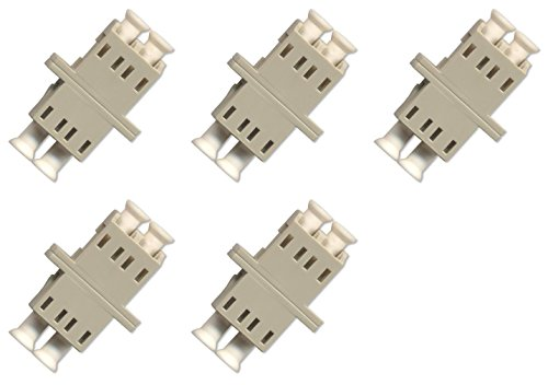 Fiber Optic Cable Adapter/coupler LC-LC Duplex Multimode 5 Pack by Ultra Spec Cables