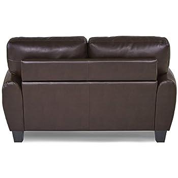 Homelegance 9734DB-2 Upholstered Loveseat Bonded Leather Match, Dark Brown