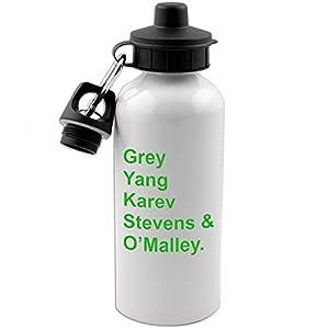 Grey Yang Karev Stevens O'Malley Anatomy Doctors 20 OZ White Aluminum Water Bottle (LIME GREEN)