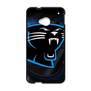NICKER Carolina Panthers nice item Hot sale Phone Case for HTC ONE M7 Black