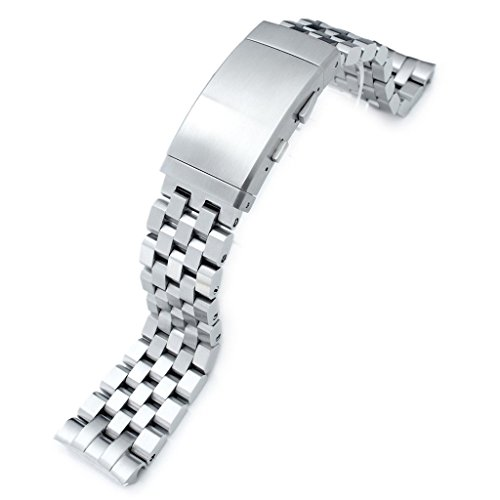 22mm Super Engineer II 316L SS Watch Bracelet for Seiko New Turtles SRP777 & SRPA21, Ratchet Buckle by Seiko Replacement by MiLTAT