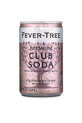 Fever-Tree Premium Club Soda Cans, No Artificial Sweeteners, Flavorings & Preservatives, 5.07 Fl Oz (Pack of 24)