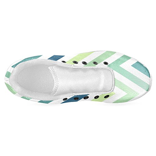 Artsadd Teal Blue Mint Chevron Custom Gloednieuwe Hardloopschoenen Voor Heren