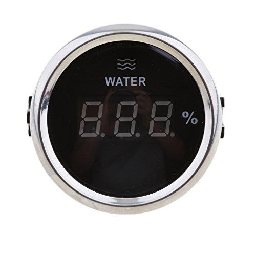 Homyl White Digital Water Level Gauge 52mm 316L+Silver Fuel Liquid Water Gauge Sensor Indicator by Homyl