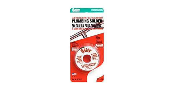 Oatey 53027 6 Pack 1/4# 95/5 Lead Free Plumbing Wire Solder - - Amazon.com
