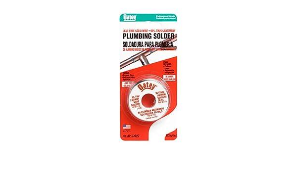 Oatey 53027 6 Pack 1/4# 95/5 Lead Free Plumbing Wire Solder - - Amazon.com