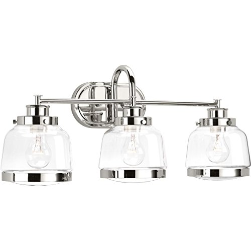 (Progress Lighting P300082-104 Judson Three-Light Bath, Polished Nickel)