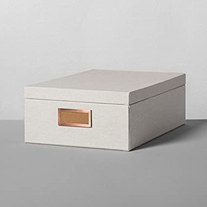 Chimenea y mano con Magnolia caja de almacenaje Natural Canvas 13 en. Grande Joanna Gaines