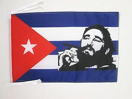Nuevo BANDERINA CUBANA 30 x 45 cm cordeles BANDERA de CUBA 45x30cm