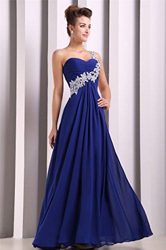 EnjoyBridal® de la mujer encaje a-line diseño One Shoulder Prom Vestido de dama de honor Maxi vestido de noche Green - Mint Green